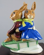 "Royal Doulton Bunnykins Figurine - ""Sleigh Ride"" - DB4 - $18.99"