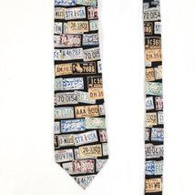 Structure License Plates Silk Necktie Tie image 3