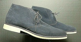 Men's Banana Republic Blue Snuff Suede Chukka/Ankle Boot Sz. 11M MINTY! - $47.03