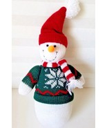 "Peachtree Playthings 12"" Sock Snowman Stuffed Snowman Cloth Plush Christ... - $13.81"