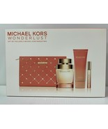 MICHAEL KORS WONDERLUST WOMEN PERFUME EDP SPRAY 3.4 OZ + MINI + B/ L + BAG - $129.99