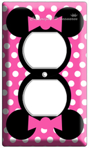 Minnie Mouse Pink Polka Dots Power Outlet Wall Plate Cover Girls Bedroom Decor - $8.99