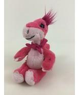 "Build A Bear Mini Pink 7"" Dinosaur with Magnetic Scarf Bandana Plush Stu... - $17.77"