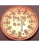 Gem UNC Portugal 2007 5 Euro Céntimos ~ Minted en Lisboa - $3.52