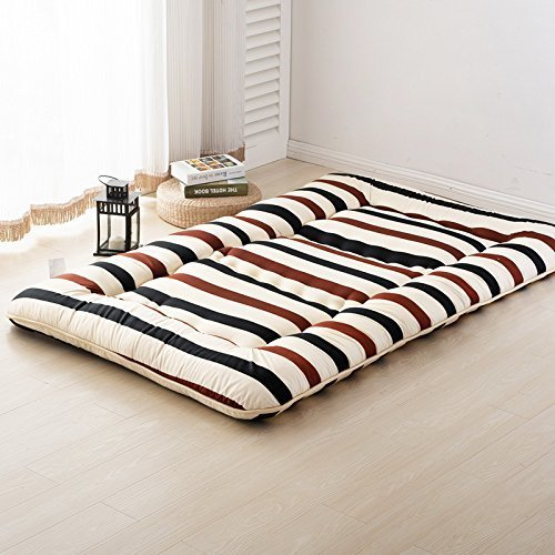 stripes beige futon tatami mat japanese futon mattress cheap futons for sale chr other gift. Black Bedroom Furniture Sets. Home Design Ideas