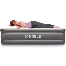 Inflatable Air Mattress Portable Bed Raised Comfort Travel Guest Large T... - ₨6,272.68 INR
