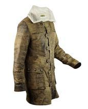Bane Dark Knight Rises Tom Hardy Distressed Brown Fur Leather Coat image 2