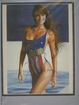 Paulina Porizkova double matted photo. Beautiful!! - $27.95
