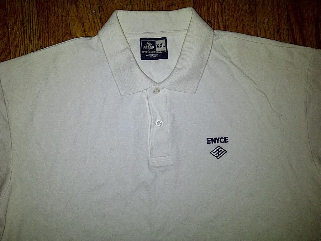 Enyce Clothing Co Hip Hop Urban Plain Blank White Polo Shirt 2xl XXL 2x