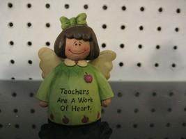"""Teachers are a Work of Heart"" Suzi Skoglund Teacher Gift Resin Figurine - $11.03"