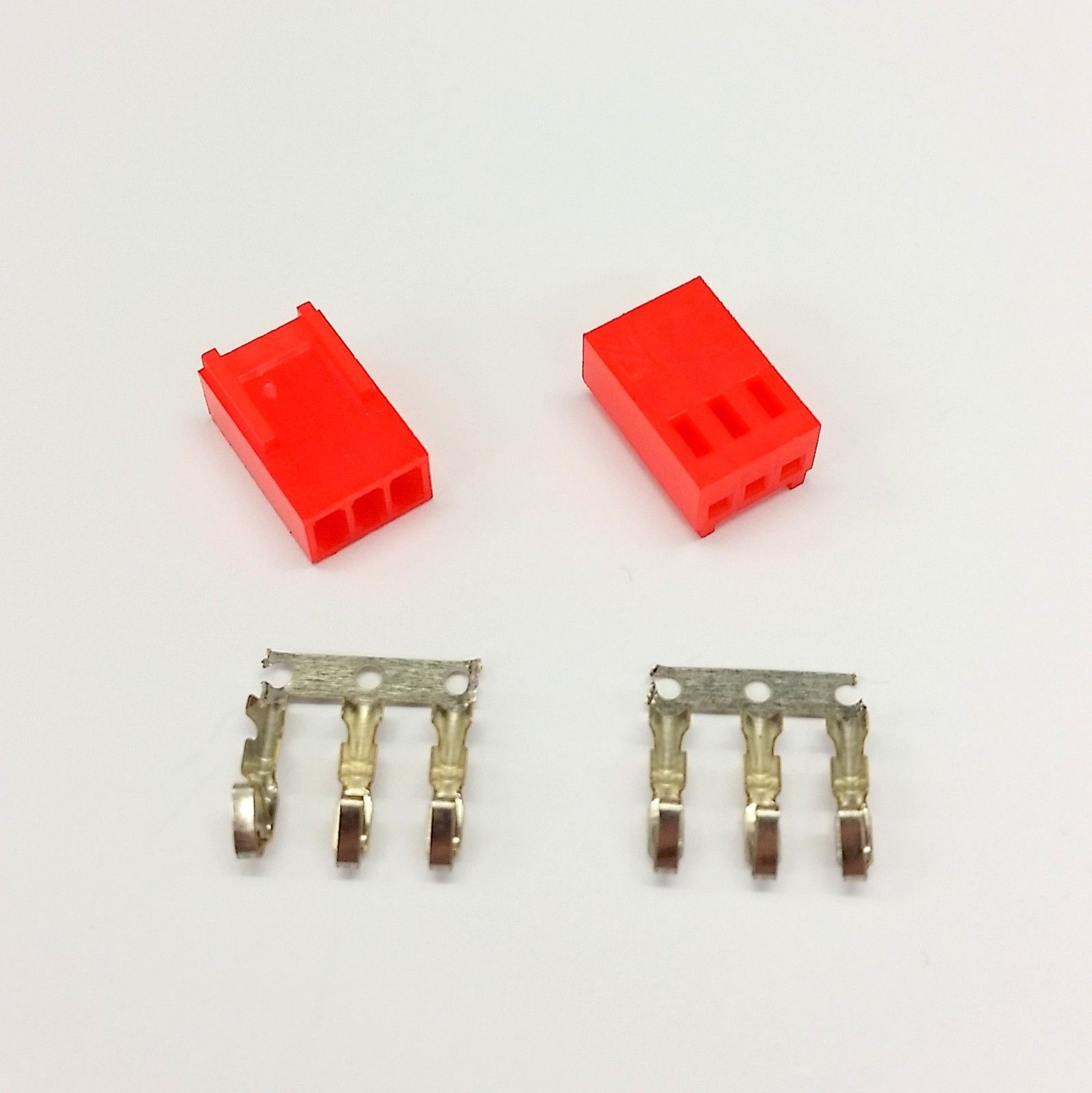 PK OF 2 - FEMALE 3 PIN FAN POWER CONNECTOR - RED INC PINS image 5