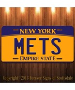 New York Mets MLB Baseball Vanity Aluminum License Plate New - $12.82