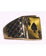 Mens Blackjack Ring Size 12 Ace of Spades YGP Fun Gambler  - $19.99