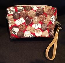 Clutch Bag/Wristlet/Makeup Bag - Chocolate candies on red image 2
