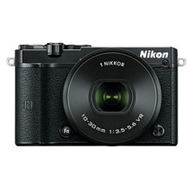 Nikon 1 J5 Mirrorless Digital Camera with 10-30mm VR Lens (Black) - $316.73