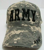 Army Tactical Cap Embroidered Adjustable Digital Camo Hat Rothco Adjusta... - $24.50