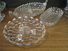 FOSTORIA AMERICAN GROUP OF THREE SERVING PIECES - $12.99