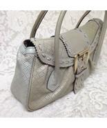 Celine, Cream-Beige Pierced Leather Handbag Shoulder Bag 14in x 8in x 3in - $280.20