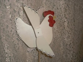 Whirligig, White Chicken. wind mobile,windspinner,handcrafted,handpainte... - $45.00