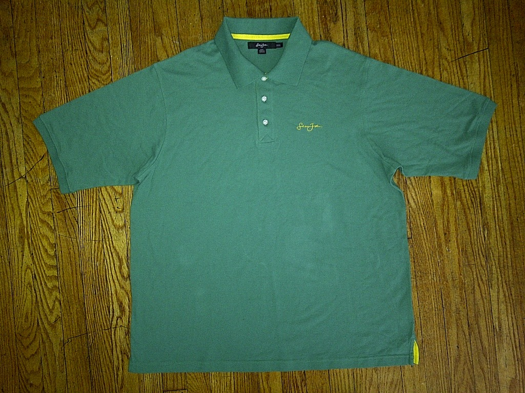 Primary image for Sean John SJC P Diddy Hip Hop Urban Green Yellow Gold Polo Shirt 3xl XXXL 3x