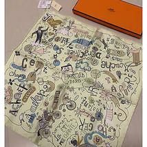 "Hermes Mini Scarf Les Confessions 45 cm Silk Handkerchief 16.5"" - $5.659,98 MXN"