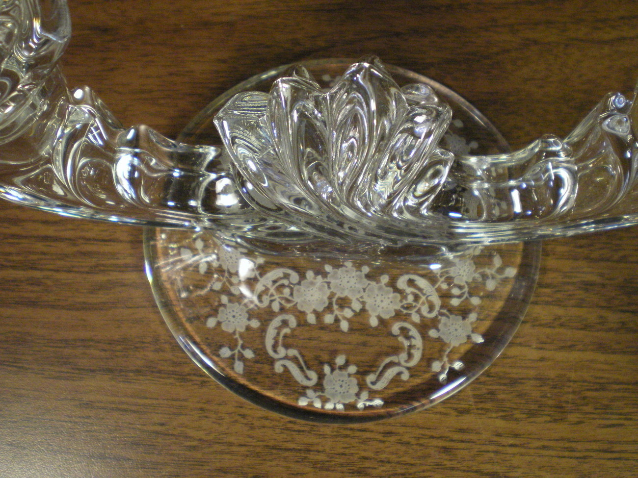 "Primary image for FOSTORIA ""MEADOW ROSE"" DOUBLE CANDLE HOLDER~~HTF"
