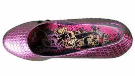 Iron Fist Women's Pink Studs Number of the Beast High Heels Platform Shoes NIB image 6
