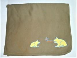 Gymboree RARE VINTAGE Boy's Oversized Thick Warm Frog Blanket Olive 1999... - $94.04