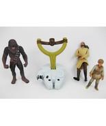 Star Wars Figurines Gui-Gon Jinn(1998), Chewbacca(1995) - $15.00