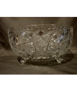 EAPG Crystal 3 Toed Footed Round Bowl - $29.00