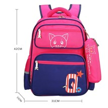 Cute Cat Backpack Kids Book Bag School Backpacks for Girls Boys with Pen... - $35.99