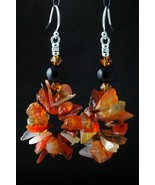Sterling Silver Earrings_Carnelian and Black Onyx - $35.00