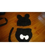 Hand crocheted little black cat costume/photo prop - $25.00
