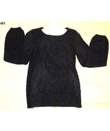 WORTHINGTON Size Medium Black Smock Knit Top NWT - $16.99