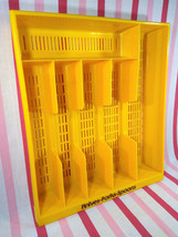 Awesome 1970's MoD Yellow 6 Section Labeled Plastic Flatware Silverware ... - $16.00