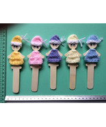Bookmark puppet Cute Doll Bookmark Unique lady gift  hand made stocking ... - $4.88