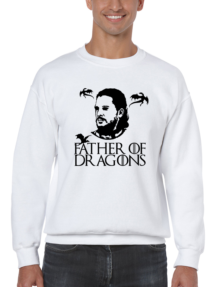 Primary image for Men's Sweatshirt Father Of Dragons Cool Gift Hot Shirt