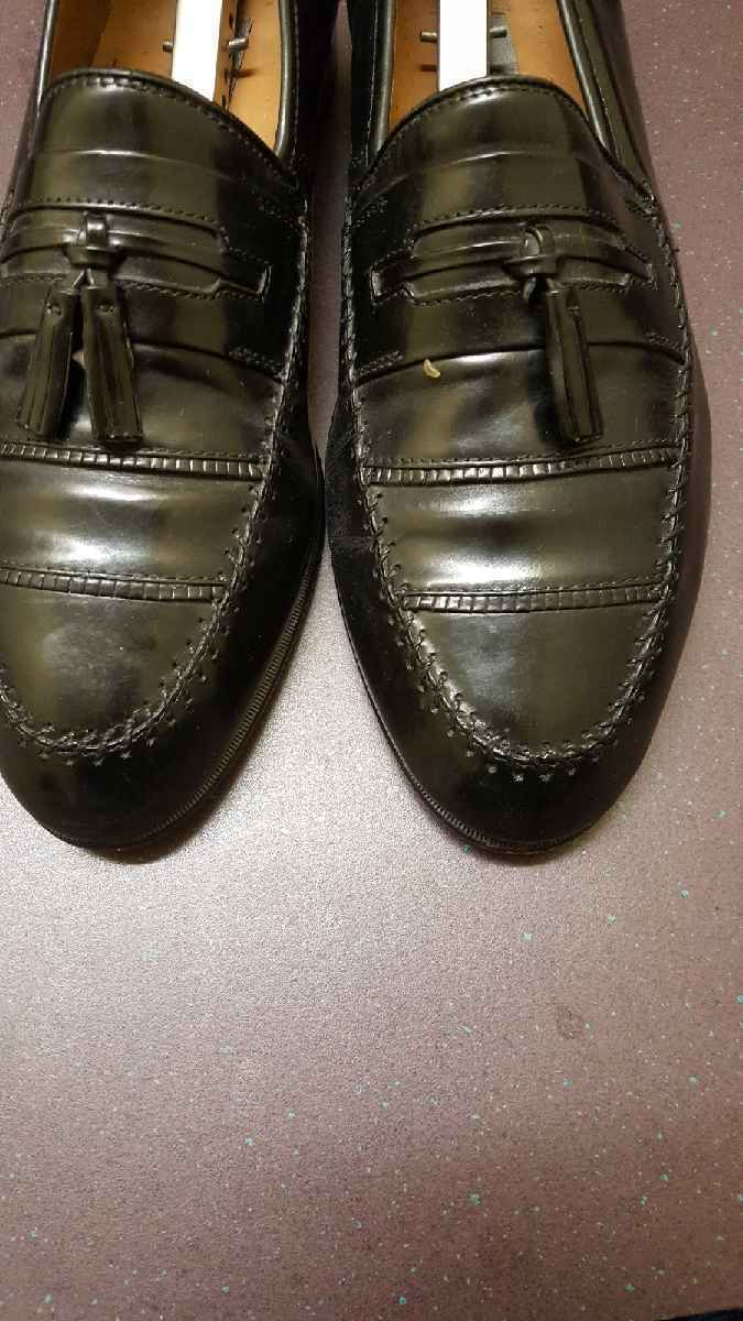 Mens Stacy Adams Leather Upper Slip On Dress Shoes 23202 Size 9.5M