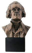 YTC President Presidential Thomas Jefferson Bust Bronze Finish Statue Figurine - $37.51