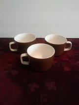 Set Of 3 Mikasa Mediterrania Brown Mugs - $28.04