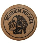 US 1970's WOODEN NICKEL JULY 4th 200 YEARS TOKEN COIN - £3.78 GBP