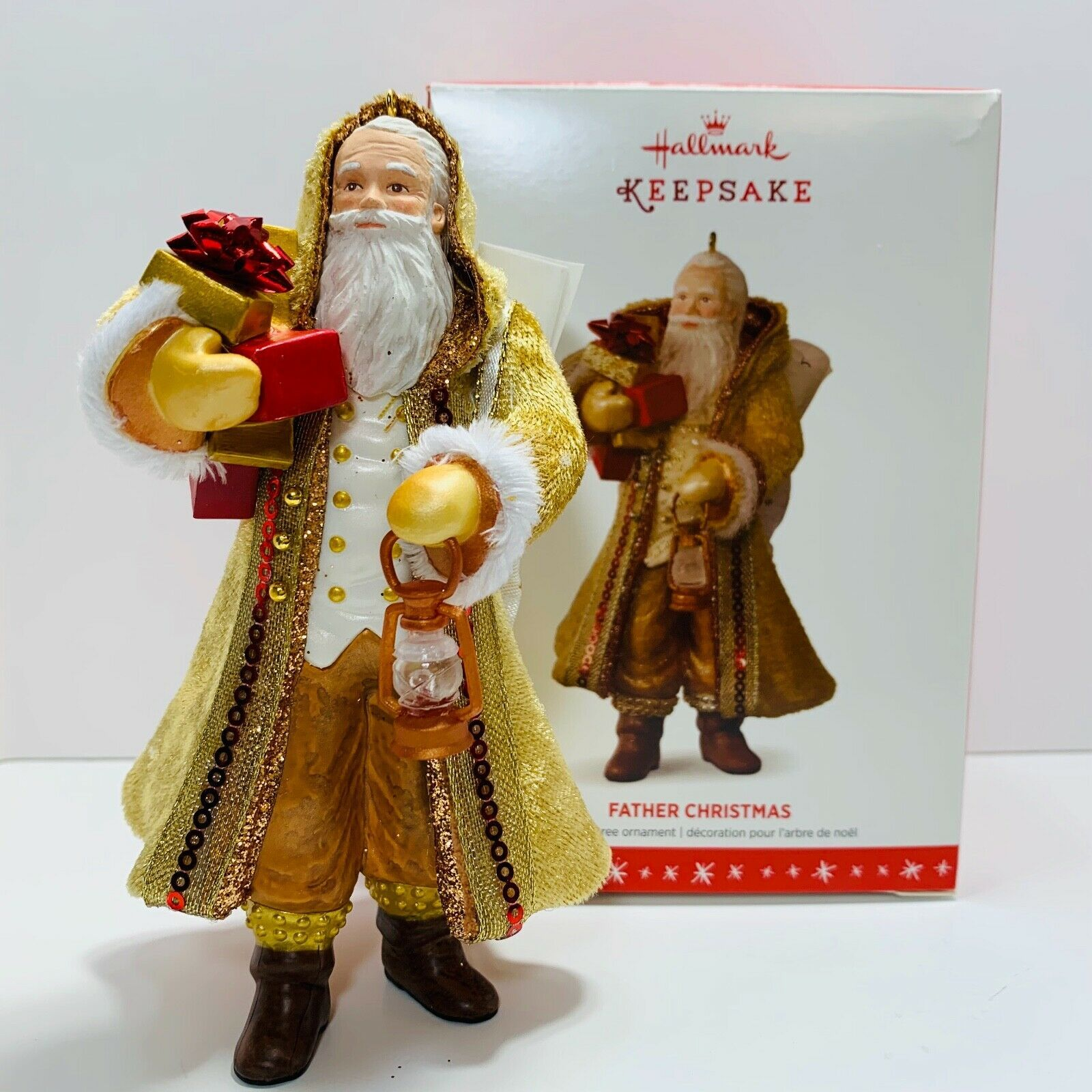 Primary image for Hallmark Keepsake Ornament Father Christmas  with Lantern 13th in Series 2016