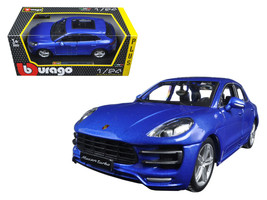Porsche Macan Turbo Metallic Blue 1/24 Diecast Model Car by Bburago - $37.09