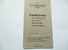 """Intermountain # 60051 36"""" Brass Insulated Wheelsets, Axle length .055"""" N-Scale  image 3"""