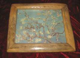 Unique Plum Blossom Print in Cane Fruitwood Frame - $25.00