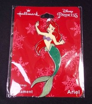 Hallmark Disney ARIEL flat metal Christmas ornament on card 2018 NEW - $6.76