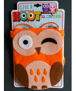 OWL COIN PURSE Bag Felt Orange Give a Hoot NEW - $8.99