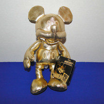 Disney Mickey Mouse 90th Anniversary Gold Plush Small