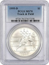 1995-D Olympic Track & Field $1 PCGS MS70 - Modern Commemorative Silver ... - $160.05