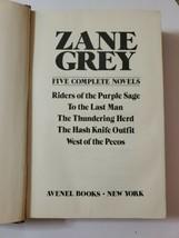 Zane Grey : Five Complete Novels 1980 Edition - $9.90